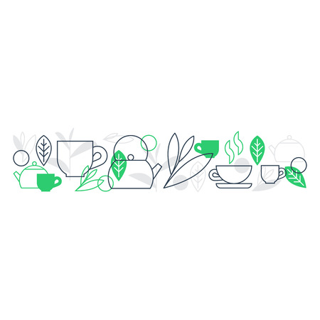 palate: Horizontal tea ornament