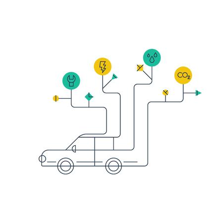auto service: Auto service. Car maintenance. Failure diagnosis. Illustration