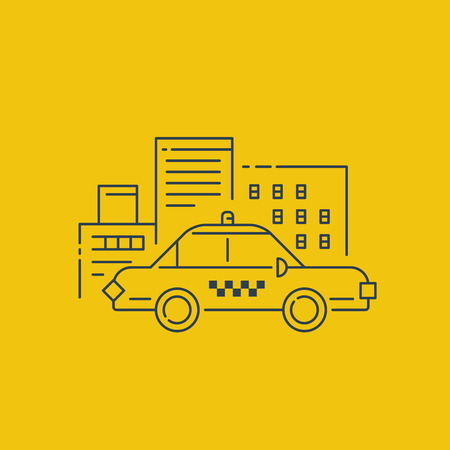 sihlouette: City taxi service