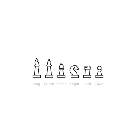 pied: Chess pieces set. Upgrade concept.