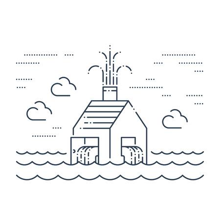 Pipe break, poor plumbing, flooding. Insurance service concept.