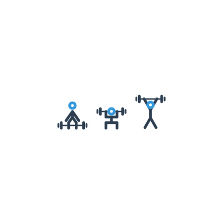 powerlifting: Powerlifting set of icons