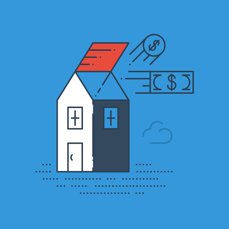robbery: Robbery insurance. Housing expenses. Mortgage subsidy. Rent payments. Illustration