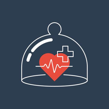 upkeep: Medical health insurance concept. Pharmacy, clinic.