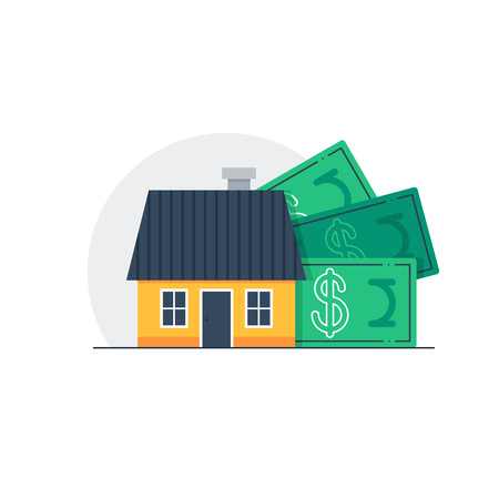 monthly salary: Mortgage concept, real estate