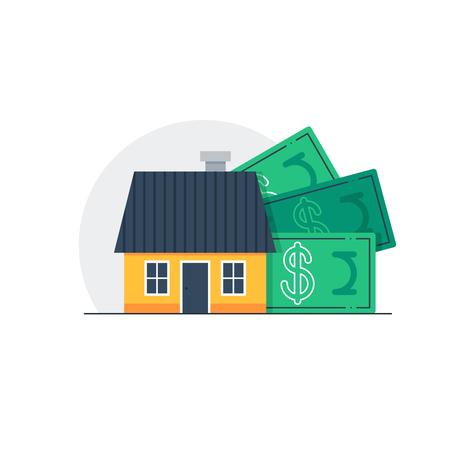 installment: Mortgage concept, real estate