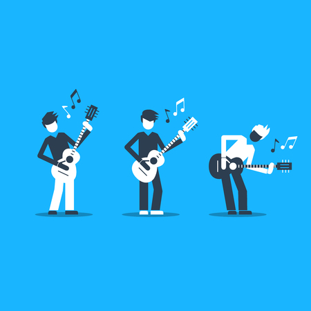 bard: Music band Bright attractive illustration for a cover or poster.