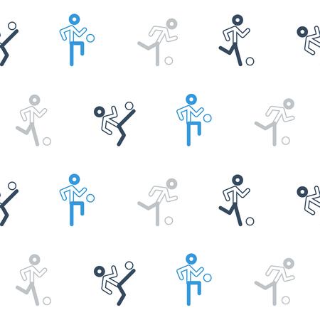 little league: Football players seamless pattern