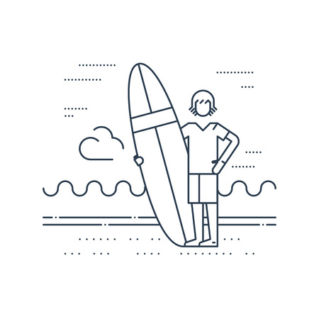 teenagers having fun: Summer vacation. Surfing camp. Surfing man instructor.