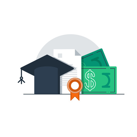 education concept: Education concept, grants