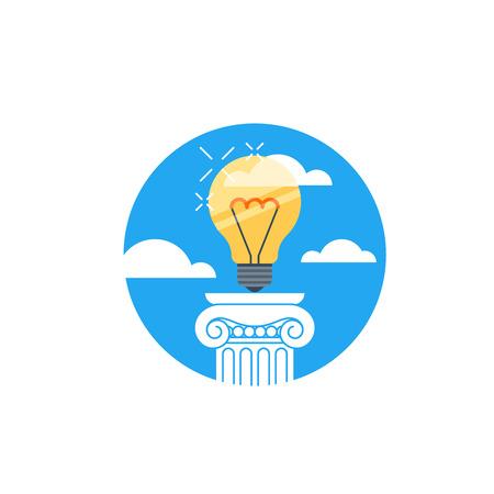 big break: Great idea, creative thinking Illustration
