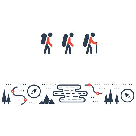 contestant: Hike, outdoor activities illustration