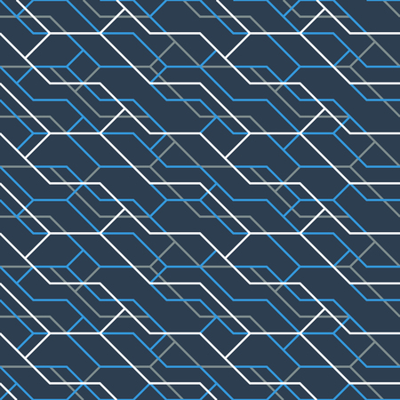 branching: Geometric seamless pattern of color lines Illustration