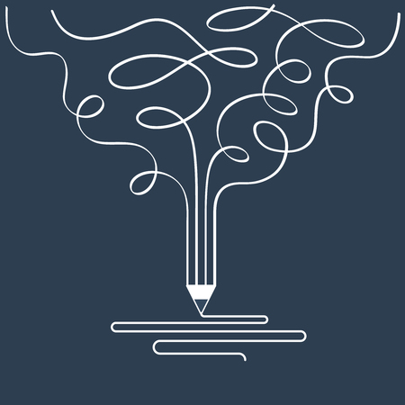 storytelling: Creative writing. Storytelling. Graphic design studio symbol