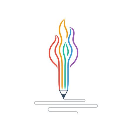 creative writing: Creative writing. Storytelling. Graphic design studio symbol