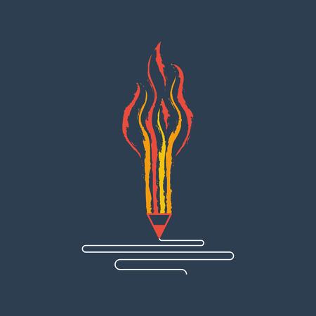 Creative writing. Storytelling. Graphic design studio symbol