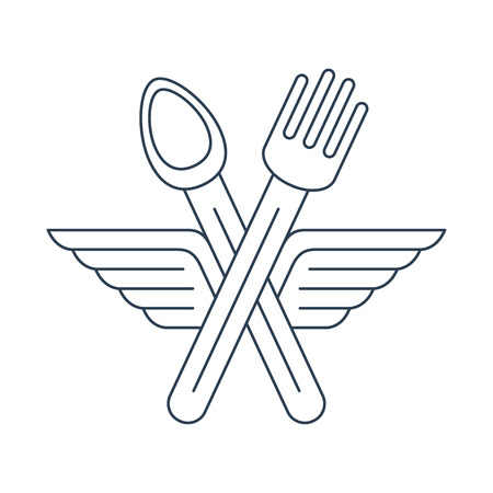 food: Food delivery. Catering. Fast food area.
