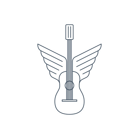 winged: Winged guitar. Music lessons, course or school.