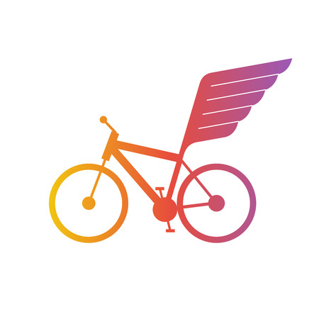 bicycle race: Winged bicycle. Race.
