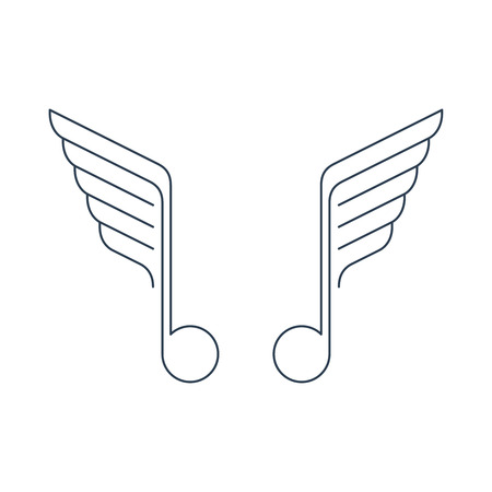 winged: Winged music note