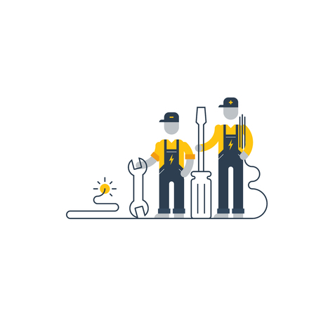 install: Electric works services Illustration