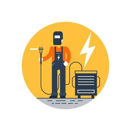 machine operator: Welder, round label
