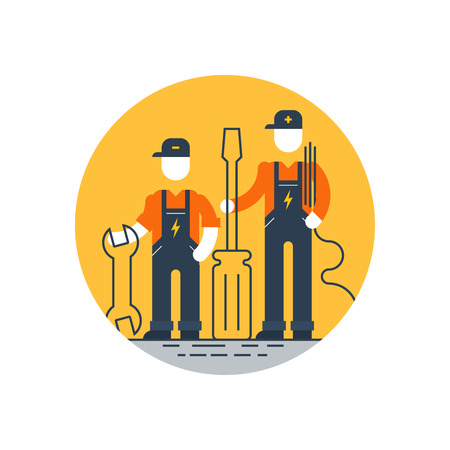 Technical support, repair men Illustration