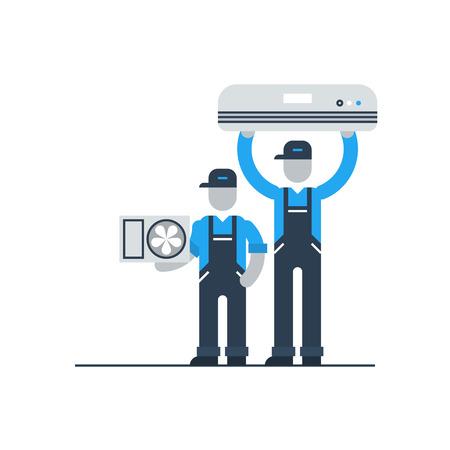Airconditioner dienst Stock Illustratie