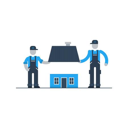 Movers, la réparation du toit, rénovation de maison