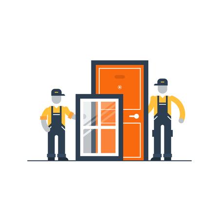 Ventanas y puertas de servicios a plazos