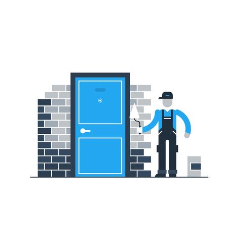 installing: Door installation, home improvement