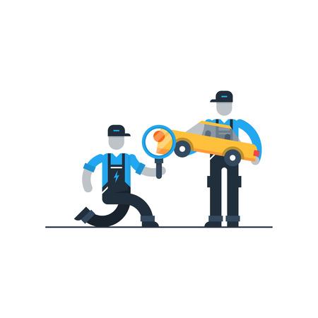 diagnostics: Auto diagnostics services Illustration