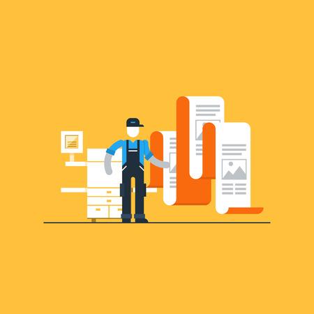copy machine: Printshop services Illustration