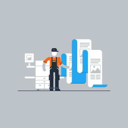 maintenance work: Printshop services Illustration