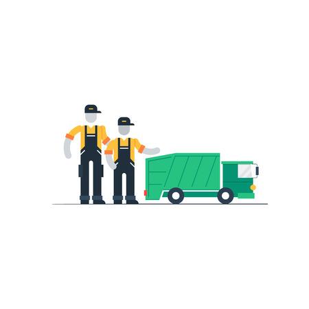 camion de basura: camión de la basura Vectores