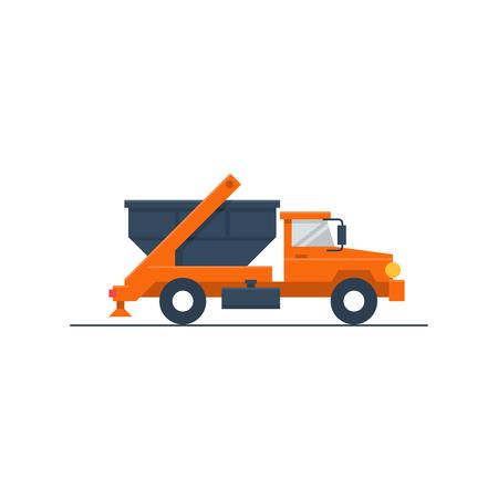 Trash truck Stock Illustratie
