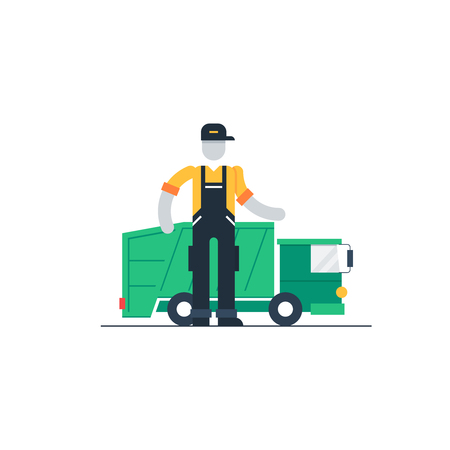 camion de basura: cami�n de la basura Vectores