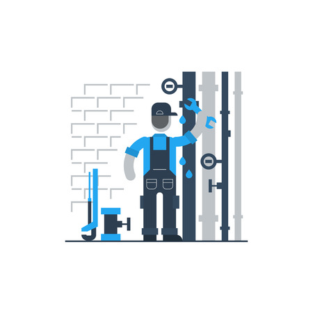 issue: Plumbing services Illustration