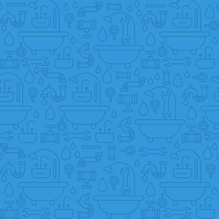 Seamless pattern, plumbing theme 矢量图像