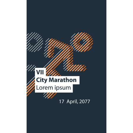 sporting event: Running event poster design