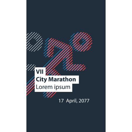 event: Running event poster design