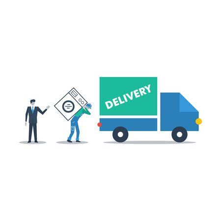 porter house: Delivery purchases Illustration