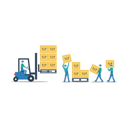 Las mercancías de carga de camiones