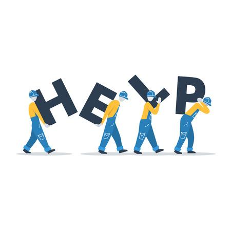 Levering werknemers of andere helpers Vector Illustratie