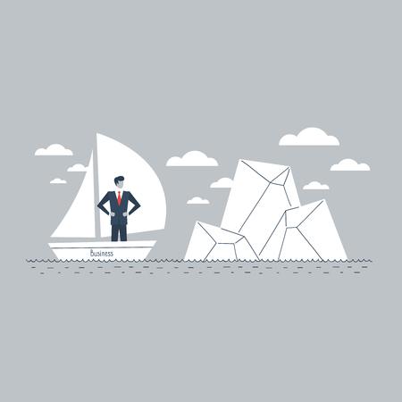 Business obstacle metaphor Illustration
