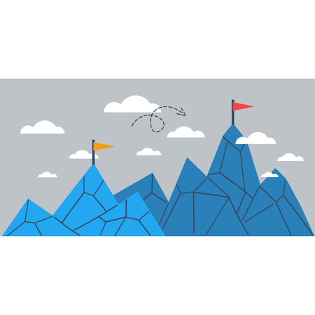 Upgrade or achievement illustration