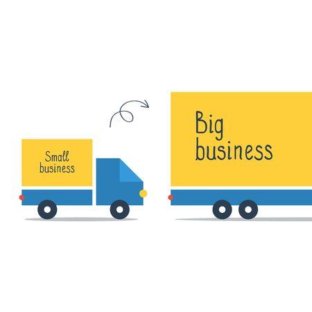 alumnos en clase: Comparación de tamaño de la empresa o la ampliación