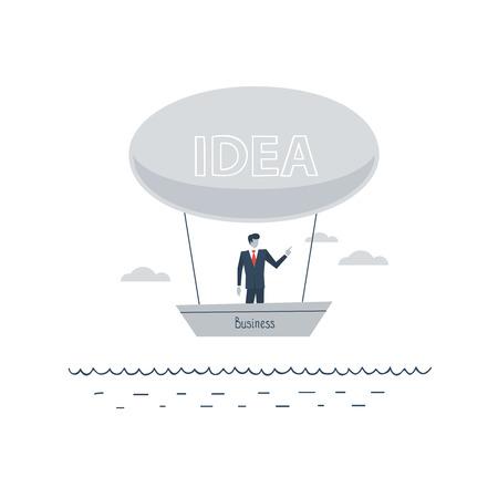 business: Business idea Illustration