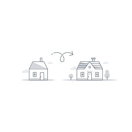 house exchange: Upgrade or improvement illustration