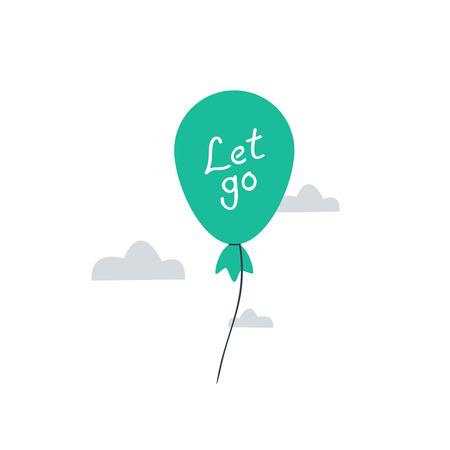 let go: It is time to let go. balloon